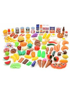 Kangaroo Deluxe Pretend Food, 120 Piece Set by Kangaroo