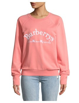 Battarni Oldschool Embroidered Logo Jersey Crewneck Sweatshirt by Burberry