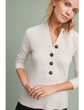 Buttoned Brushed Fleece Top by Saturday/Sunday
