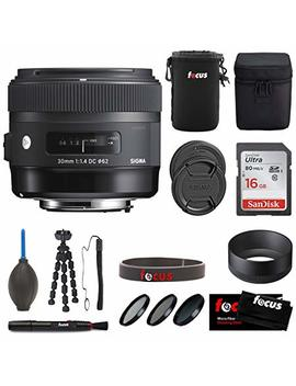 Sigma 30mm F1.4 Dc Hsm Art Lens Or Canon With Accessory Bundle by Sigma