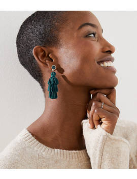 Stone Tassel Earrings by Loft