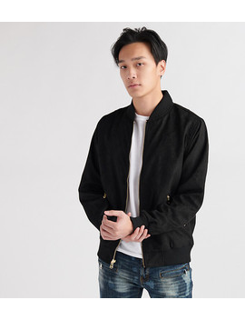 Suede No F Ill Flight Jacket by Decibel