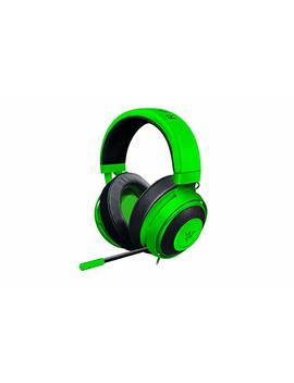 Razer Kraken Pro V2: Lightweight Aluminum Headband   Retractable Mic   In Line Remote   Gaming Headset Works With Pc, Ps4, Xbox One, Switch, & Mobile Devices   Green by Razer