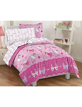 Dream Factory. Magical Princess Ultra Soft Microfiber Girls Comforter Set, Pink, Twin by Dream Factory.