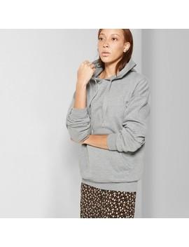 Women's Oversized Fleece Hoodie   Wild Fable™ Heather Gray by Wild Fable