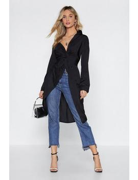 Knot Today Babe Maxi Shirt by Nasty Gal