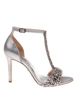 Veil Ii Metallic Leather Ankle Strap Sandals by Badgley Mischka