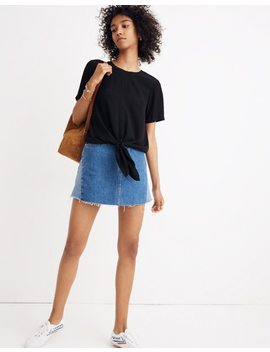 button-back-tie-tee by madewell