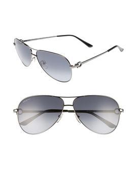 Gancio 62mm Aviator Sunglasses by Salvatore Ferragamo
