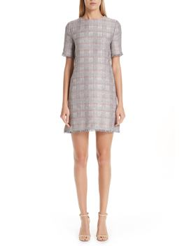 Check Woven Dress by Emporio Armani