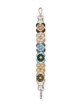 Strap You Mini Flowerland Shoulder Strap For Handbag, Silver by Fendi