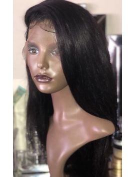 """Special Price   18"""" Lace Frontal Virgin  Brazilian Hair Wig Pre Plucked Hairline by Ebay Seller"""