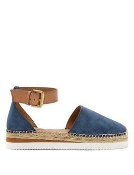 Raised Sole Suede Espadrilles by See By Chloé