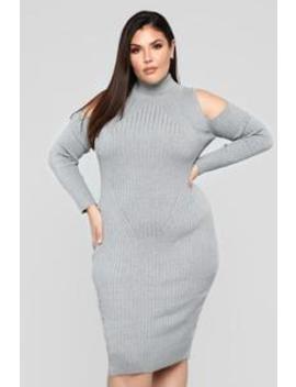 Second Date Dress   Heather Grey by Fashion Nova