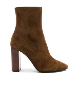 Suede Lou Ankle Boots by Saint Laurent