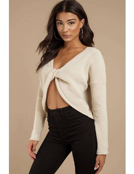 Bella Stone Twist Knot Sweater by Tobi
