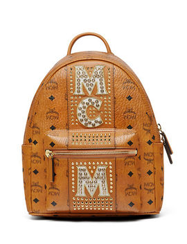 Stark Stripe Crystal Studs Backpack by Mcm