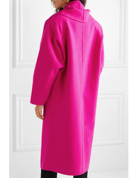 Oversized Double Breasted Wool Blend Coat by Marc Jacobs