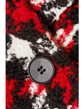 Oversized Checked Wool Blend Bouclé Coat by Mc Q Alexander Mc Queen