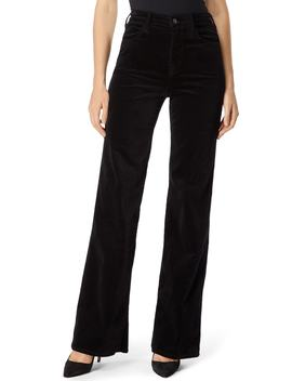 Joan High Waist Wide Leg Velvet Jeans by J Brand