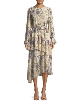 Mona Floral Midi Dress by Astr The Label