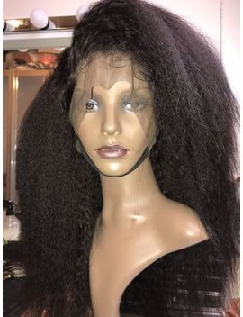 "Special Price   20"" Lace Frontal 100 Percents Virgin Kinky Straight Brazilian Hair Unit by Ebay Seller"