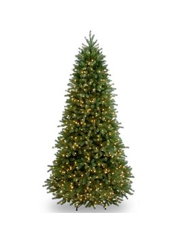 6.5 Ft. Jersey Fraser Fir Slim Tree With Clear Lights by Generic