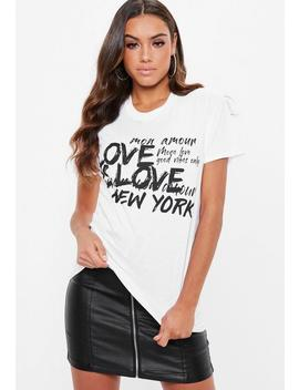 White Love Is Love T Shirt by Missguided