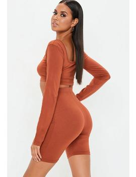 Rust Cycling Shorts by Missguided