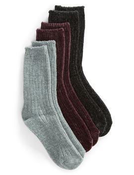 3 Pack Chenille Socks by Hue