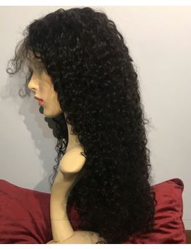 Pre Plucked Full Lace Wig Brazilian Deep Wave 250 Percents Density Grade12 A 22 Inches 1 B by Ebay Seller