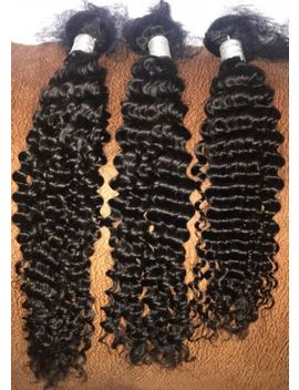 Brazilian Virgin Human Hair Extension Deep Curly Weave Bundle 18 20 22 by Ebay Seller