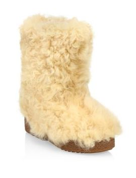Furry Shearling Snow Boot by Saint Laurent