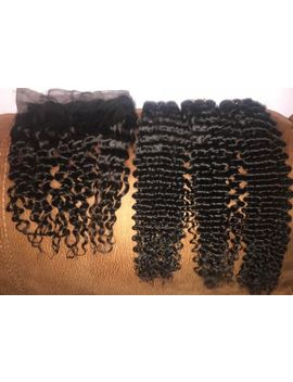 Brazilian Virgin Human Hair Extension Weave With 360 Closure Bundle Deep Wave by Ebay Seller