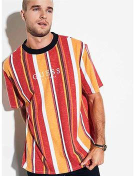 Guess Originals Oversized Sayer Striped Tee by Guess
