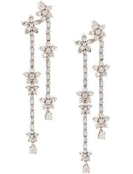 Multi Floral Drop Earrings by Oscar De La Renta