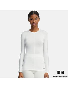 T Shirt Heattech Col Rond Manches Longues Alexander Wang Femme by Uniqlo