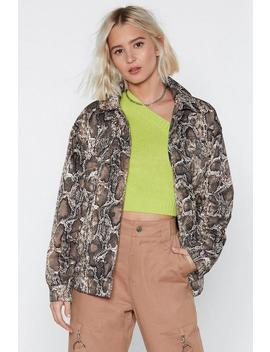 A Moment Like Hiss Snake Jacket by Nasty Gal