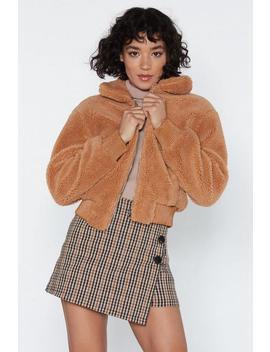 Make A Break Fur It Faux Fur Jacket by Nasty Gal