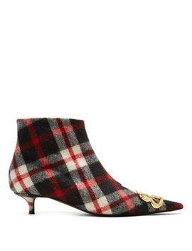 Tartan Bb Ankle Boots by Balenciaga
