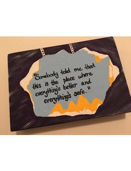 Hand Painted One Tree Hill Quote Wooden Plaque | Oth | Karen's Cafe by Etsy