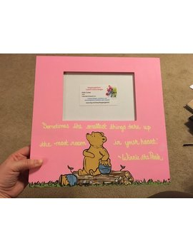 Winnie The Pooh Piglet Picture Frame | Multiple Quote Options | Best Friend | Sister | Mother Daughter | Father Daughter | Nursery Decor by Etsy