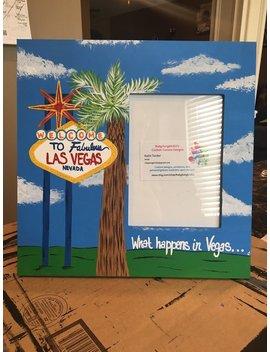 Las Vegas Souvenir Frame | Travel Frame | Viva Las Vegas | What Happens In Vegas | Bachelorette Party Picture Frame | Signature Picture by Etsy