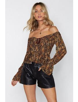 Hissy Fit Snake Top by Nasty Gal