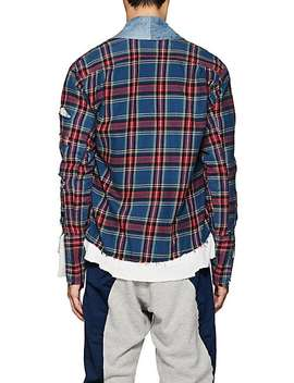 Plaid Flannel & Denim Kimono Shirt by Greg Lauren