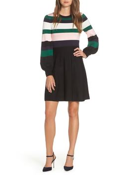 Balloon Sleeve Fit & Flare Sweater Dress by Vince Camuto