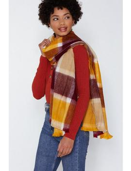 In The Wind Check Scarf by Nasty Gal