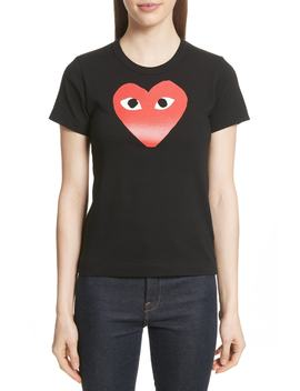 Red Heart Tee by Comme Des GarÇons Play