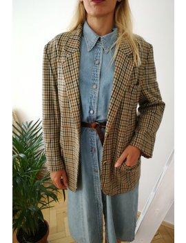 Vintage 80s Original Pierre Balmain Tweed Jacket, Oversized, Unisex, Blazer, Retro, Wool, Cashmere, Nylon, Made In France, Size S M L by Etsy
