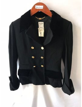 Beautiful Luxury Blazer Celine Paris Wool Material Authentic Not Louis Vuitton Fendi Versace Hermes Balmain Gucci Balenciaga Dior Ysl Fendi by Etsy